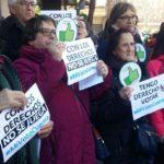 FSIE MADRID EN LA CONCENTRACIÓN A FAVOR DEL VOTO DE LAS PERSONAS CON DISCAPACIDAD