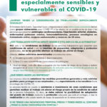 INFORMACIÓN PARA TRABAJADORES ESPECIALMENTE SENSIBLES Y VULNERABLES AL COVID-19