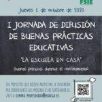 """I JORNADA DE BUENAS PRÁCTICAS:2020 """"La escuela en casa"""""""