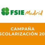 FSIEMADRID LANZA LA CAMPAÑA DE ESCOLARIZACIÓN 2021
