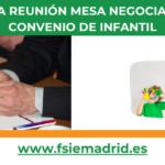 Nueva reunión de la Mesa Negociadora del Convenio de Infantil