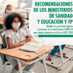 Presentadas las medidas para el curso escolar 2021-2022 propuestas por los Ministerios de Sanidad y Educación y FP