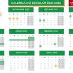 Calendario escolar Madrid 2021-2022