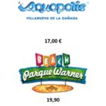 PARQUES REUNIDOS, WARNER BEACH, AQUOPOLIS Villanueva. Códigos para afiliados.