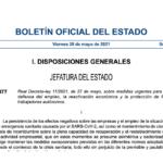 Publicado el Real Decreto Ley sobre medidas urgentes para la defensa del empleo, la reactivación económica y la protección de los trabajadores autónomos