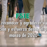 FSIE agradece el papel esencial de los profesionales de la Educación Concertada, Privada y Atención a Personas con Discapacidad